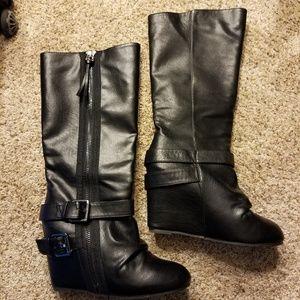 Black Aldo tall boots